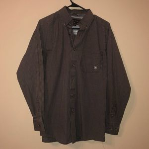 Ariat Pro Series Brown Button Down Shirt